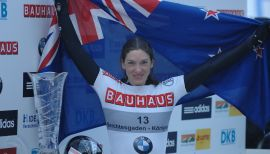Support Kiwi skeleton racer in Olympic dream.